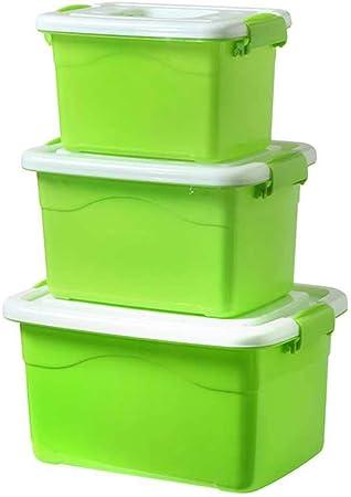 PXFX - Caja de Almacenamiento de plástico Transparente para Juguetes, 2 Unidades, plástico, Verde Fruta Pura Especial, Medium 2 Packs: Amazon.es: Hogar