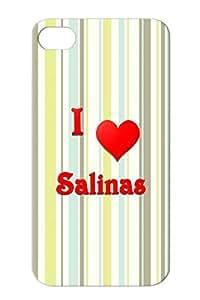 I Love Salinas 21 Salinas Hearts Love Heart Red TPU For Iphone 4s Protective Hard Case