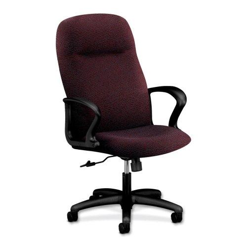 HON Gamut 2071 Executive High-Back Chair - Acrylic, Polyurethane - Acrylic Claret, Polyester Seat - Steel Black Frame - 27.5