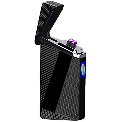 Fluid Metal Lighter - Cigar Lighter, Pard Touch Inductiion USB Arc Lighter, Windproof Flameless Electronic Pulse Arc Cigarette Lighter, Black