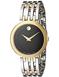Women's Swiss Quartz and Stainless Steel Casual Watch, Color:Two Tone (Model: 0607053)