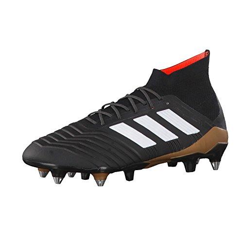 Adidas Mænd Predator 1.18 Sg Fodboldstøvler, Hvid, 44 Sort Eu (cSort / Ftwwht / Solred CSort / Ftwwht / Solred)