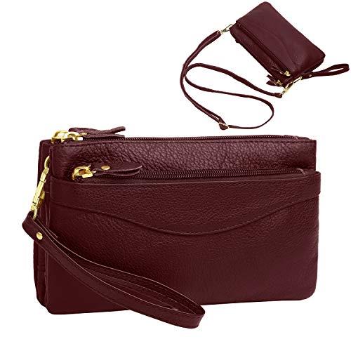 Women's Leather Wristlet...