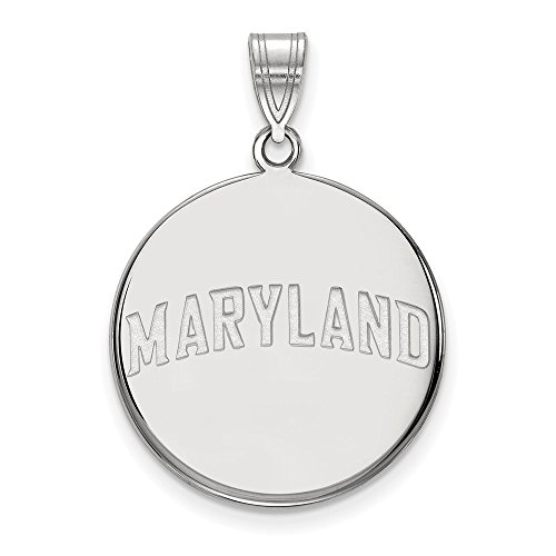 Sterling Silver Logo Art Maryland Large Disc Pendant