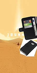 """A-type (Viaje juego"""") Colorida Impresión Funda Cuero Monedero Caja Bolsa Cubierta Caja Piel Card Slots Para Samsung Galaxy S6 EDGE (NOT S6)"""