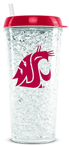 ington State Cougars 16oz Crystal Freezer Tumbler with Lid and Straw (Washington State Duck)