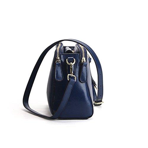 cuir 9091 femme Girl portés main bandoulière Sac à épaule Sac en Sac E LF fashion Bleu BqTEfwdq8W