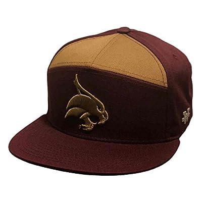 ?Texas State University Bobcats NCAA 7 Panel Flat Bill Snapback Baseball Cap Hat