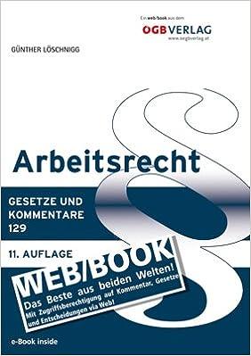 Arbeitsrecht Webbook Amazonde Günther Löschnigg Bücher