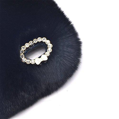 Samsung Galaxy S7 Edge 5.5'' Soft Warm Cute Case, Sammid Women Gift Luxury Stylish Bling Fluffy Cover for Samsung Galaxy S7 Edge - Black by Sammid (Image #3)