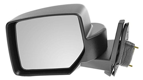 Side View Mirror Manual Textured Black Driver Left LH for 07-13 Jeep Patriot