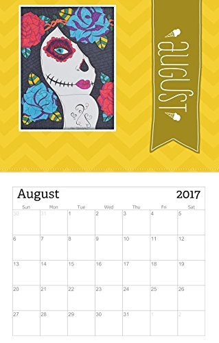 Amazon.com: 2017 Wall Calendar, 12 Months of Sugar Skull Girls, Day ...