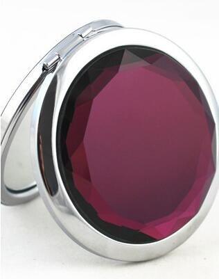 Compact Mirror, UTPTOOL Double Sides Portable Foldable Pocket Metal Makeup Compact Mirror Woman Cosmetic Mirror (Purple) by UTPTOOL