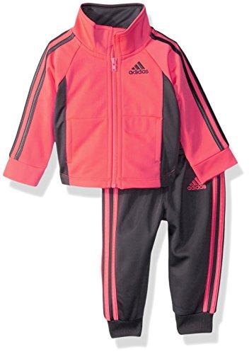 adidas Baby Girls' Zip Jacket and Pant Set, Turbo, 18M