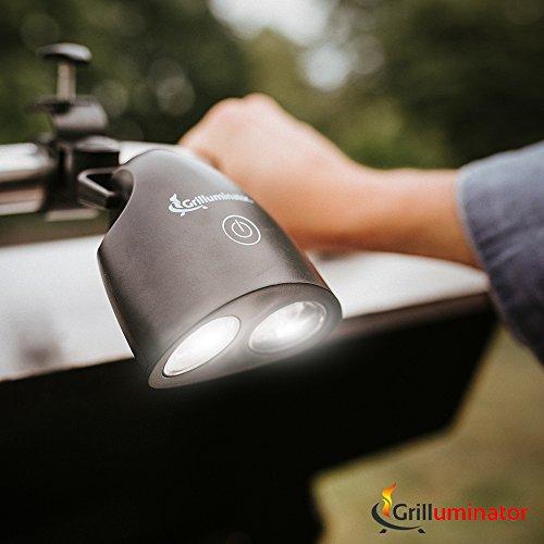 Grilluminator Authentic BBQ Grill Light-Ultra Bright Handle Mount LE, Black