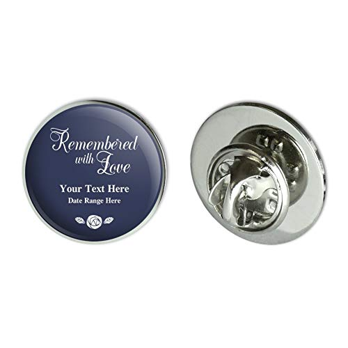 GRAPHICS & MORE Personalized Custom 2 Line Remembered with Love Rose Memorial Metal 0.75