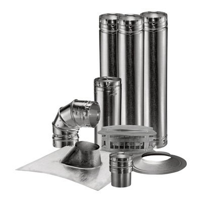 DuraVent Vent Unit Heater Kit - 3in. Vertical, Model# 0370 - Wall Vent Gas Thimble