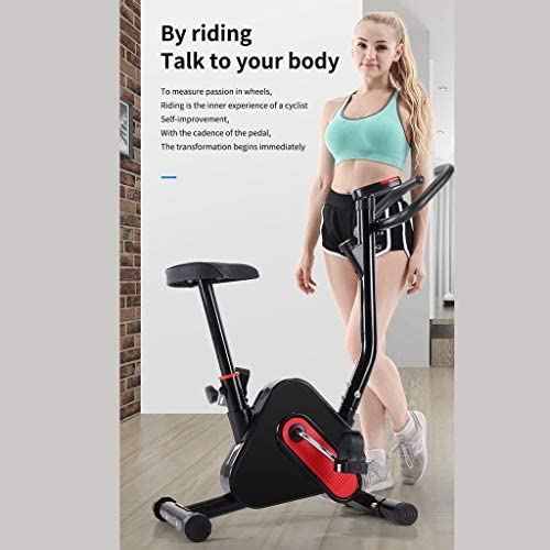 Magnetic Resistance Upright Bike With LCD Display for Women Wen Senior Home Office Cardio Workout Bike Training Belt Drive Stationary Bike L NOW Exercise Bike Indoor Cycling Bike
