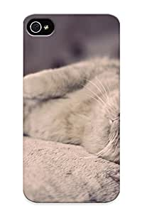 High-end Case Cover Protector For Iphone 4/4s(cuddly Cat With Orange Eyes )
