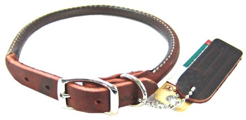 Coastal Pet Circle T Latigo Rolled Leather Dog Collar (16″ L x 1/2″ W), My Pet Supplies