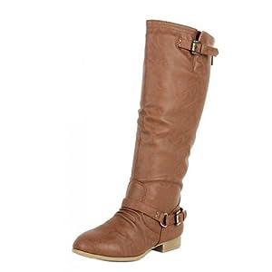 Top Moda Women's COCO 1 Knee High Riding Boot, Tan-1 (10 B(M) US)