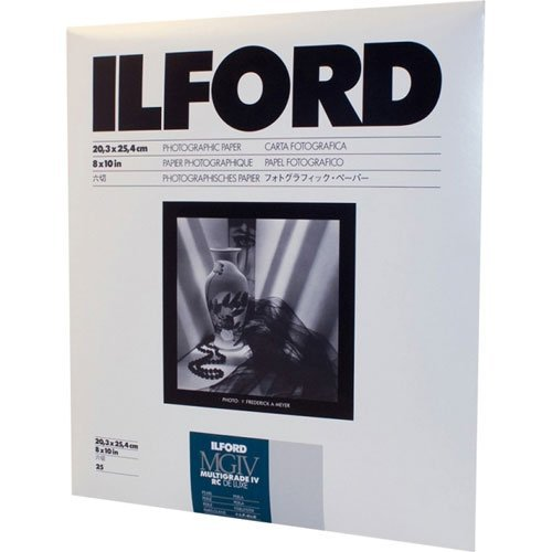 Ilford Multigrade IV RC Deluxe Resin Coated VC Variable Contrast Black & White Enlarging Paper - 8x10'' - 25 Sheets - Glossy Surface by Ilford
