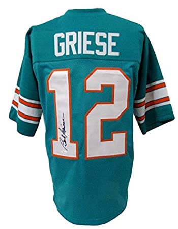 Top Signed Bob Griese Jersey Teal 141117 JSA Certified Autographed  for sale