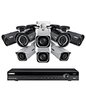 Lorex 8 channel NR9082 4K home security system with 4 8MP 4K LNB8111B Bullet Cameras and 4 4MP 2K LNB4421B Bullet Cameras