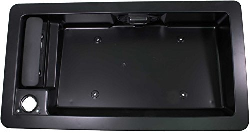 APDTY 91026 Exterior Rear Right Cargo Door Handle w/License Plate Housing Frame Bracket For 1992-2008 Ford Econoline E150 E250 E350 E450 Van (Replaces Ford 6C2Z-15434A20-AA, 6C2Z15434A20AA) (Door Econoline)