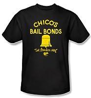 The Bad News Bears T-shirts – Chico's Bail Bonds Baseball Black Adult Tee Shirt