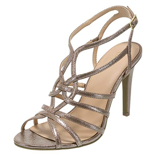 Fioni Bronze Women's Lia Strappy Heel 11 Regular