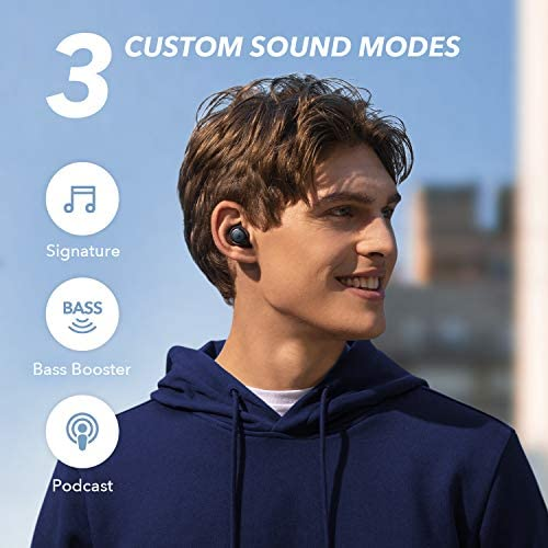 Soundcore via Anker Life A1 True Wireless Earbuds, Powerful Customized Sound, 35H Playtime, Wireless Charging, USB-C Fast Charge, IPX7 Waterproof, Button Control, Bluetooth Earbuds, Commute, Sports