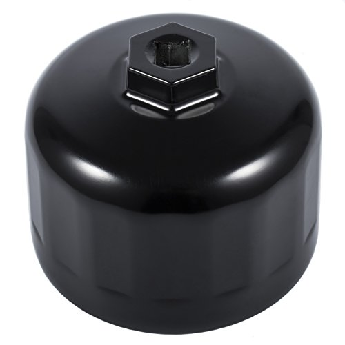 EnRand 86mm 16 Flute Oil Filter Wrench for BMW or Volvo fit Cartridge Style Oil Filter Housing Caps-Black