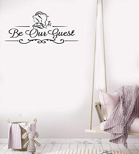(Vinyl Wall Sticker Wall Decal Quote Home Decor Be Our Guest)