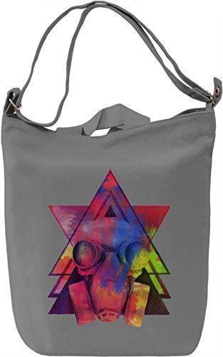 Colourful Gasmask Borsa Giornaliera Canvas Canvas Day Bag| 100% Premium Cotton Canvas| DTG Printing|