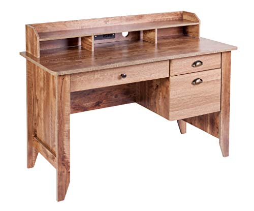 Oak Desk - OneSpace 50-1617CO Eleanor Executive Desk Classic Oak