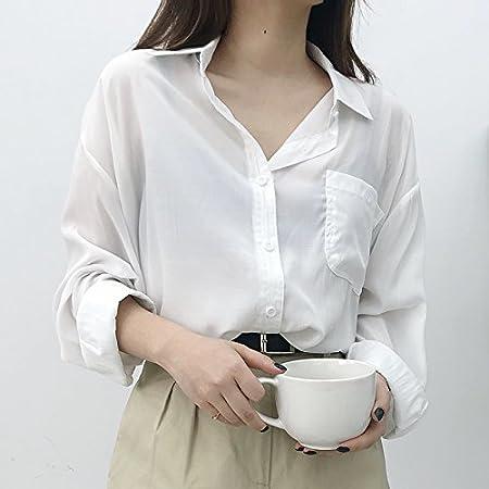 XXIN /Camiseta Azul Sunscreen Camisa Blanca Manga Larga ...
