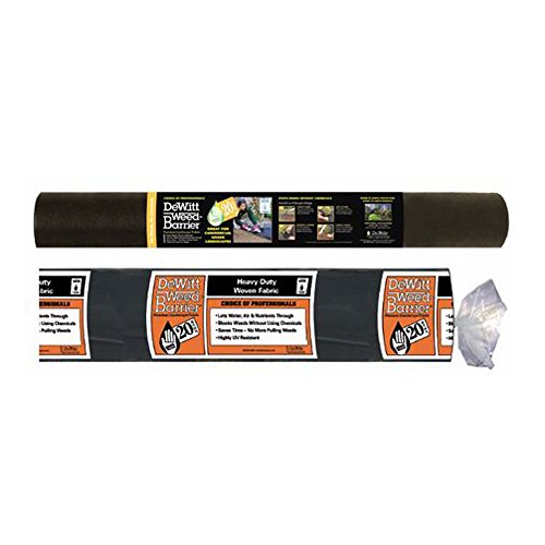 Dewitt 20YR4250 20 Year Weed Barrier Landscape Fabric, 4-Feet