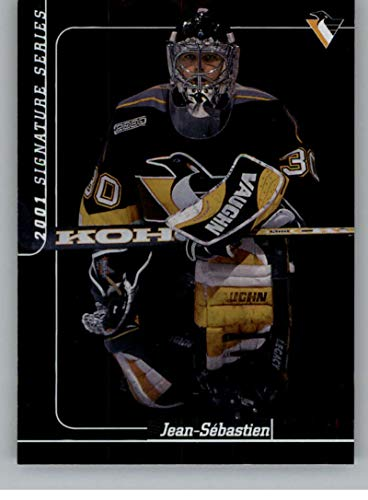 2000-01 Be A Player Signature Series Hockey #170 Jean-Sebastien Aubin Pittsburgh Penguins Official NHL Trading Card From ITG In The Game