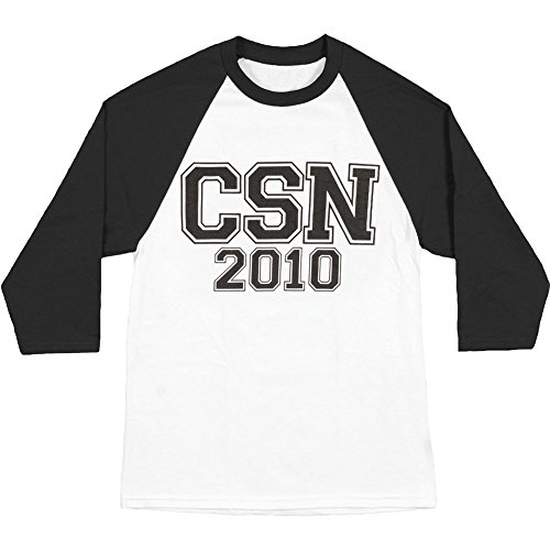 Nash White Jersey (Crosby Stills Nash Young Men's 2010 Tour Baseball Jersey Large White)