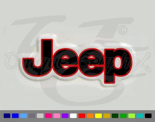 Jeep Wrangler 2 Color Vinyl Fender Side Decals 1 Pair TJ