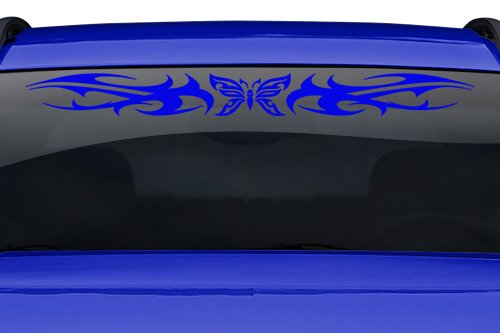 Sticky Creations - Design #159-01 Butterfly Tribal Swirl Swoosh Windshield Decal Sticker Vinyl Graphic Back Rear Window Banner Tailgate Car Truck SUV Van Go Cart Boat Trailer Wall | 36