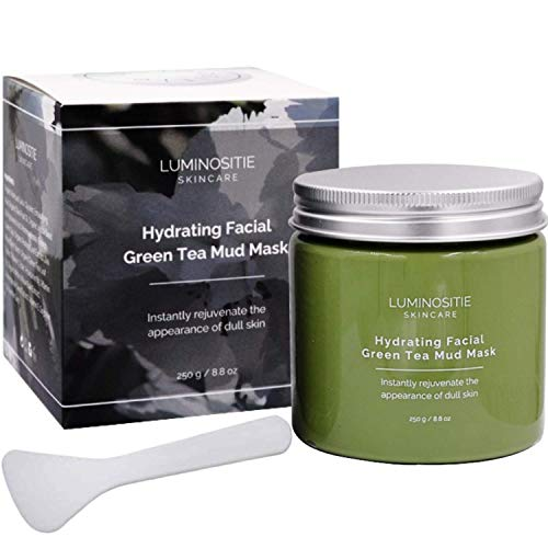 Hydrating Facial Green Tea Mud Mask (250g) (Green Facial Mask)