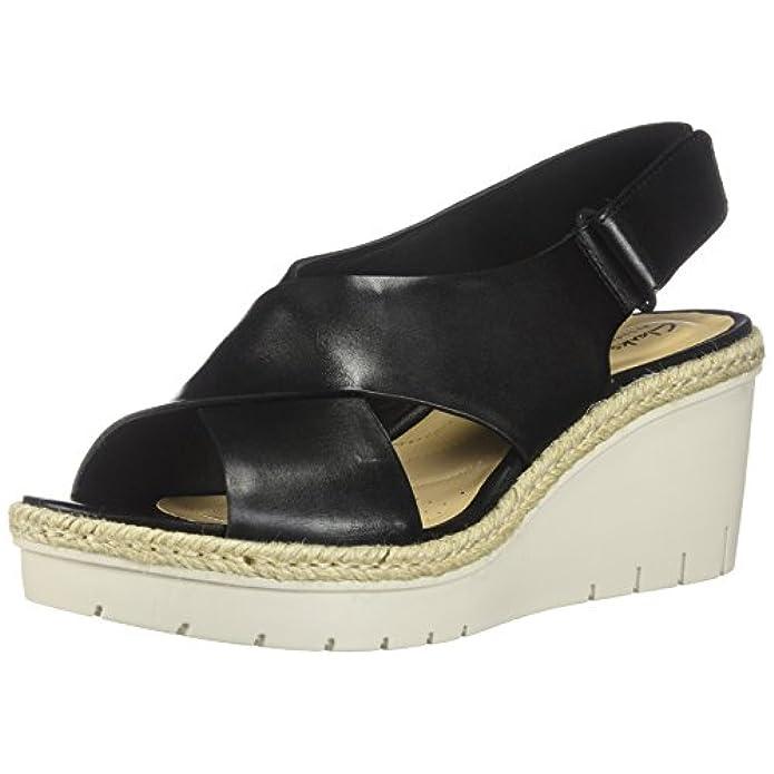 Clarks Palm Glow Donna Nero black Leather 41 Eu