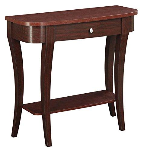 Convenience Concepts Modern Newport Console Table, Mahogany ()