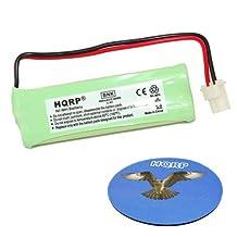 HQRP Cordless Phone Battery compatible with Vtech BT183482, BT283482, 89-1348-01, RadioShack 43-085, 43-086, 43-395 Replacement + HQRP Coaster