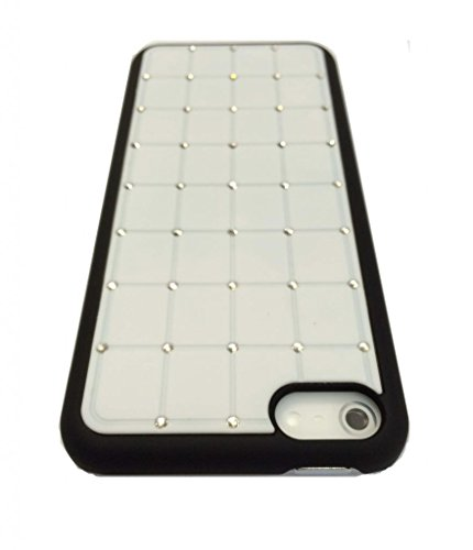 Best Style Iphone 4/4S LUXURY CRYSTAL Cross Diamond White Case Bling Hard Cover with Black Frame For APPLE Iphone 4/4S by G4GADGET®