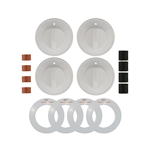 Range Kleen 8234 Gas Range Knobs - 4 White Gas Range Safety Knobs Gas Stove Accessories