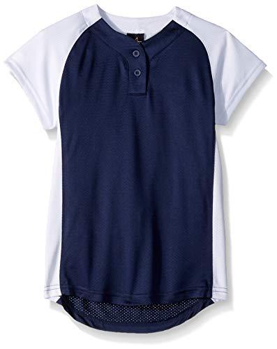 Alleson Girl's 2 Button Raglan Fastpitch Jersey