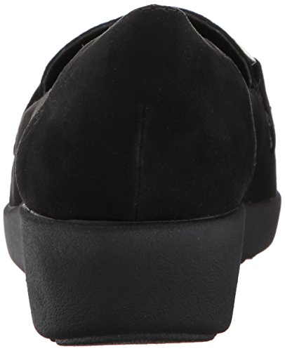 Gemakkelijke Geest Womens Kallye2 Slip-on Loafer Zwarte Stof